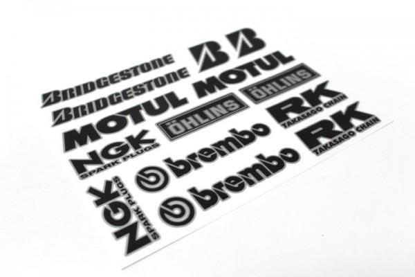 "Aufkleber Satz Sticker Set ""NGK Brembo"" #31"