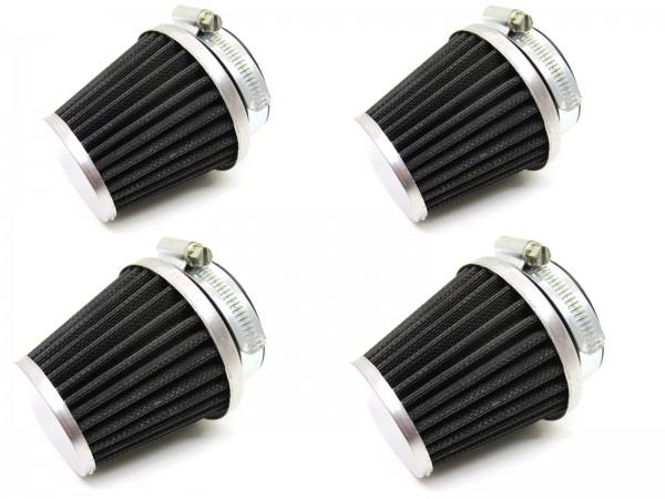 4 x 54 mm Sport Tuning Luftfilter Set - Mofa, Moped, Roller, KKR, Motorrad, Vergaser, Universal