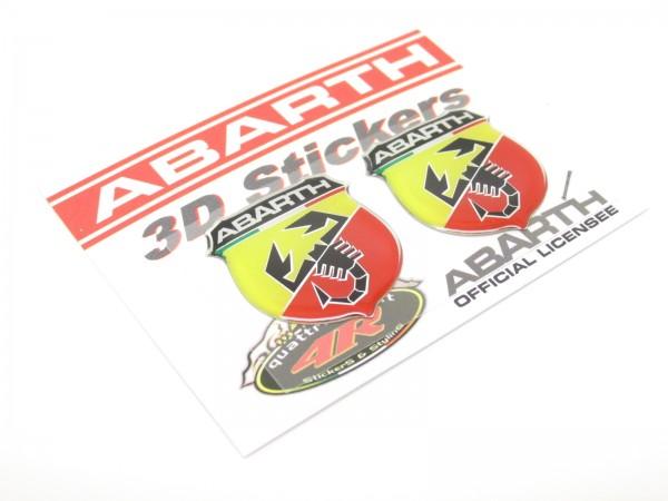 Abarth Gel 3D Aufkleber Sticker Emblem - Fiat Punto 500 600 Spider Auto #53