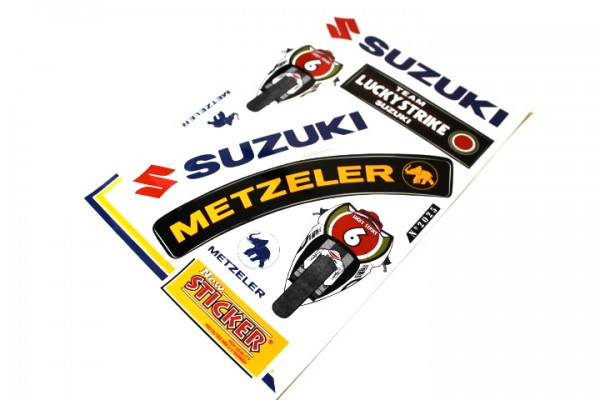 Suzuki Aufkleber Sticker Set Dekor Satz METZELER GSXR GS Motorrad #20