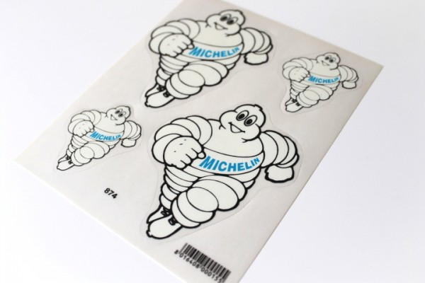 Michelin Männchen Aufkleber Sticker Dekor Satz Reifen Tuning Motorrad #23