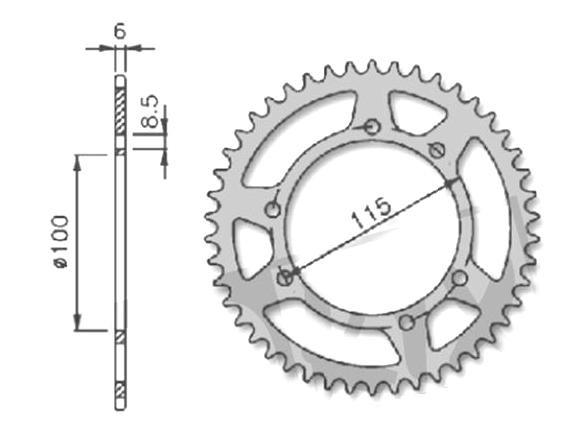 Kettenrad Ritzel 415, 38 Zähne für Gilera GSM 50