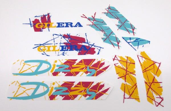 Aufkleber Sticker Dekor Set für Gilera Dizzy Mofa Moped Mokick #41