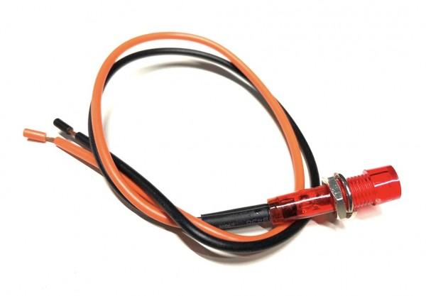 12V Kontrollleuchte Öl Rot mit Kabel 8mm Gewinde für Zündapp Hercules Kreidler
