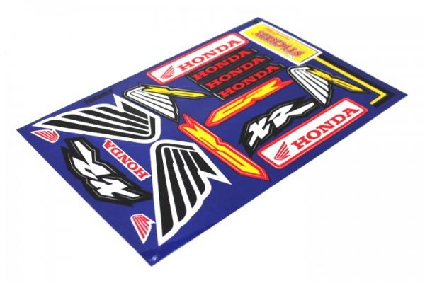 """Aufkleber Satz Sticker Set """"Wings"""" Honda XR CR CB CBR GL Roller Motorrad #33"""