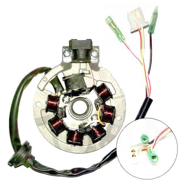 Lichtmaschine Zündung Stator 4 Kabel für CPI, Keeway, Generic, ATU 50