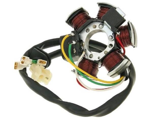 Lichtmaschine Zündung Stator für Aprilia, Beta, MBK, Motorhispania, Peugeot, Rieju (Minarelli AM6)