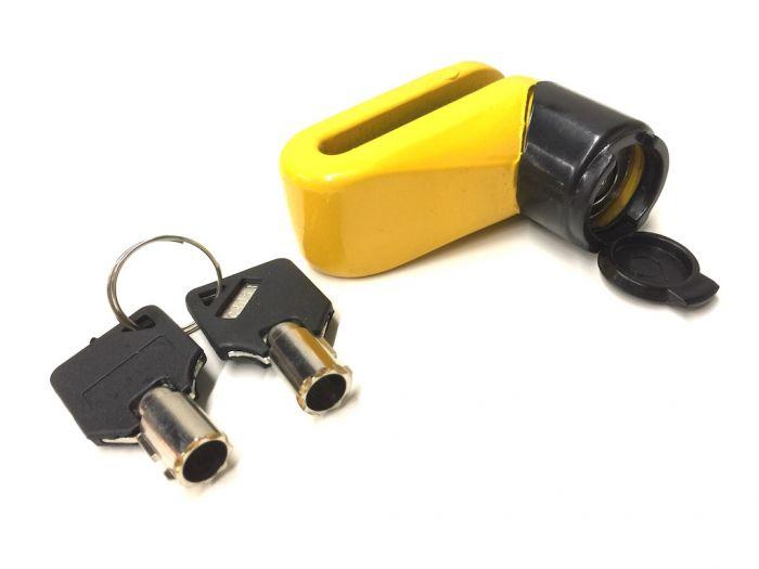 bremsscheibenschloss schlo scheibenbremse gelb f r roller. Black Bedroom Furniture Sets. Home Design Ideas